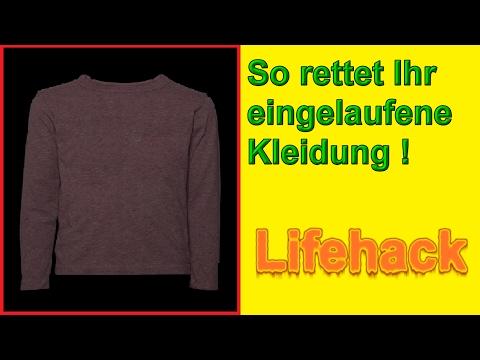 Eingelaufene Kleidung retten – Pullover / T-Shirt / Wäsche wieder weiten / Fashion Hacks Deutsch